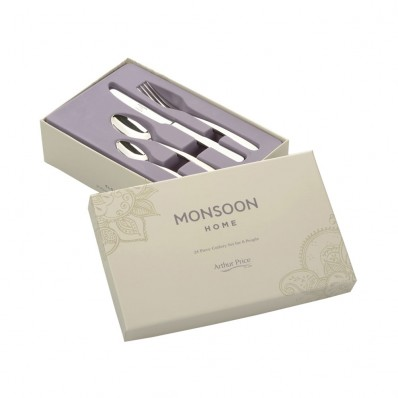 Arthur Price Monsoon Eloquence 24 Piece Cutlery Set