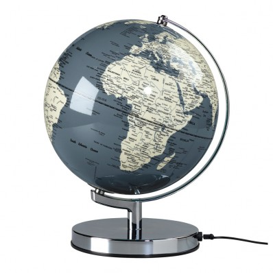 "10"" Globe Light in Concrete Grey (27078)"