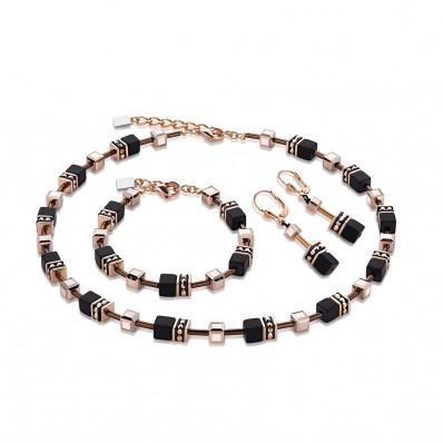 low price sale low priced best prices Coeur de Lion Geo Cube Black Rose Gold Necklace, Bracelet ...