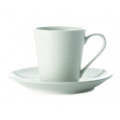 Casual White Teacup & Saucer (27482)
