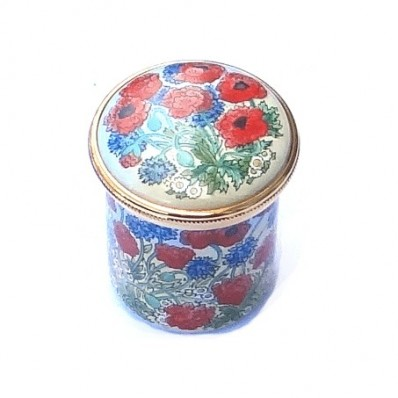 Poppies Enamel Box (28340)