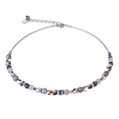 Grey and Crystal Necklace (28577)