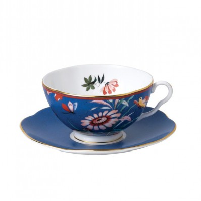 Wedgwood Paeonia Blush Tea Cup & Saucer Blue (28751)