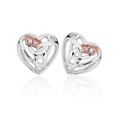 59cb0c6f7d5f5 Silver and 9ct Rose Gold Eternal Love Earrings - Havens