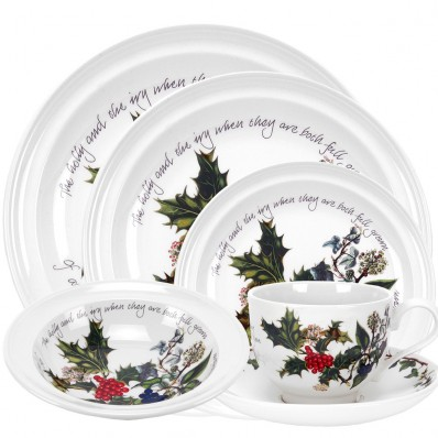24 Piece Dinner Service (413)  sc 1 th 224 & Havens - Portmeirion Holly and Ivy 24 Piece Dinner Service