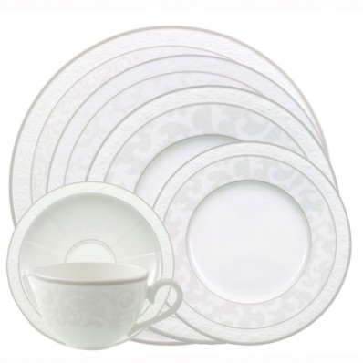 havens villeroy boch gray pearl 24 piece dinner service. Black Bedroom Furniture Sets. Home Design Ideas