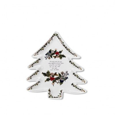 Portmeirion Holly and Ivy Christmas Tree Plate (4697)