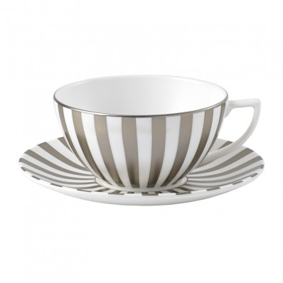 Stripe Tea Cup & Saucer (7205)