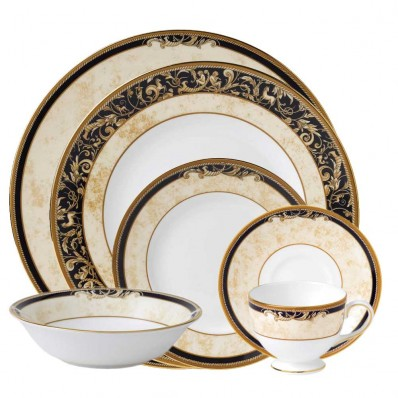 Wedgwood China Tableware Cornucopia 6 Piece Place Setting