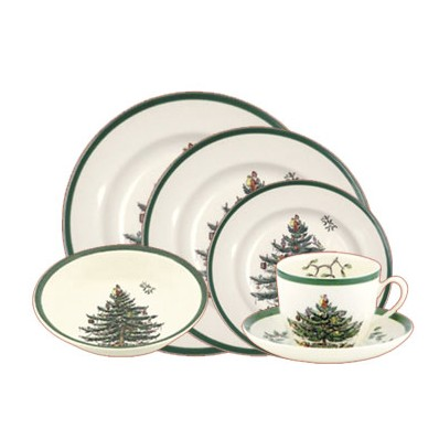 Spode Christmas Tree.6 Piece Place Setting