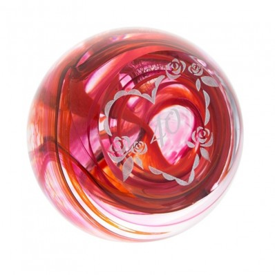 Ruby 40th Anniversary Paperweight (877)