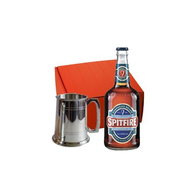 Pewter Tankard and Bottle Beer Gift Set (9027)