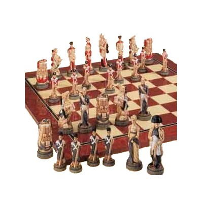 Hand Painted Battle of Waterloo Chess Set (9681)
