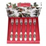 Portmerion Holly & Ivy Set of 6 Pastry Forks (14084)